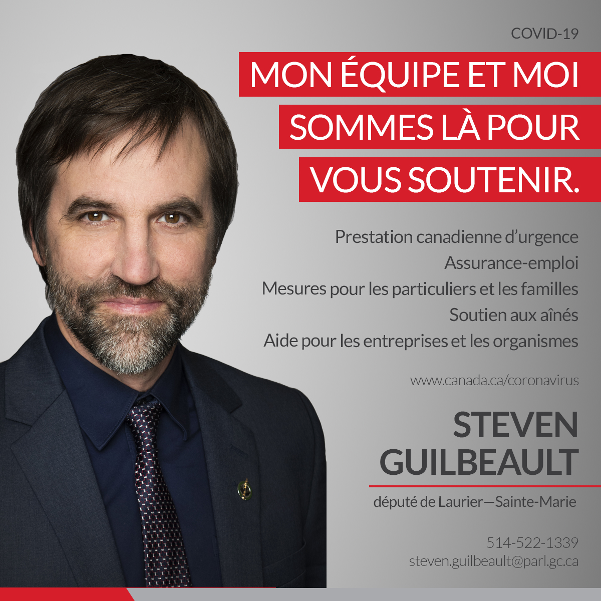 Soutien COVID 19 Steven Guilbeault 002